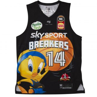 cheapest nba jerseys online First Ever RJ Hampton New Zealand Breakers Looney Tunes Edition Youth NBL Jersey china wholesalers online